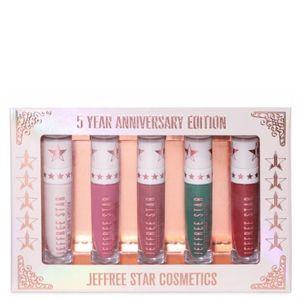 Jeffrey Star 5 Year Anniversary Lipstick Bundle
